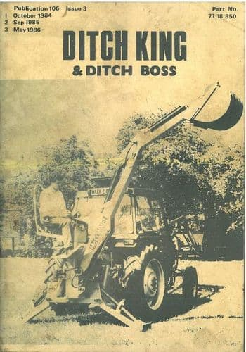 McConnel Ditch King & Ditch Boss Operators Manual with Parts List