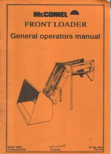 McConnel General Loader Operators Manual