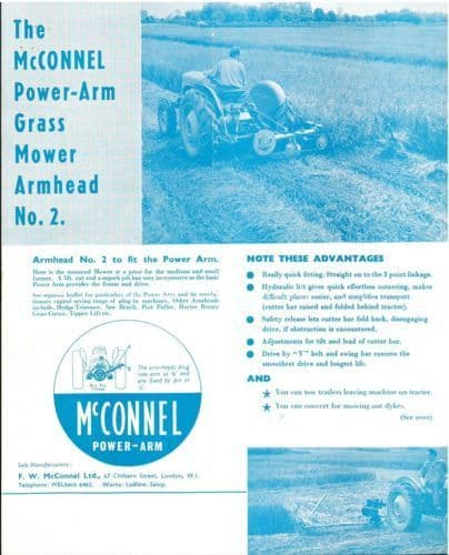 McConnel Power Arm Grass Mower & Dyke Mower Armhead Brochure