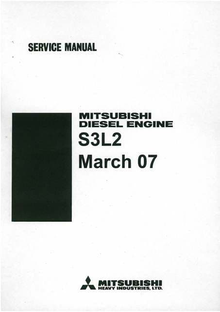 Mitsubishi Diesel Engine S3L2 Service Manual