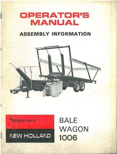 New Holland Bale Wagon 1006 Operators Manual