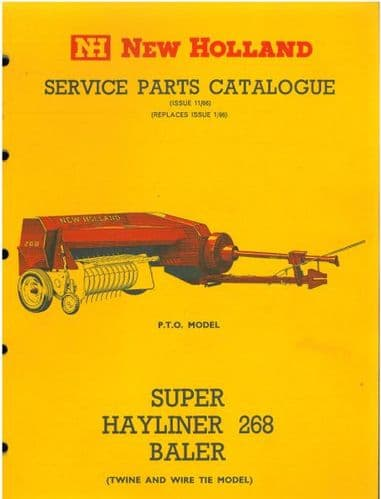 New Holland Baler 268 Super Hayliner Parts Manual