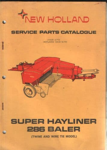 New Holland Baler 286 Hayliner Parts Manual
