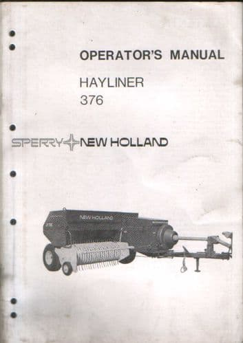 New Holland Baler 376 Hayliner Operators Manual