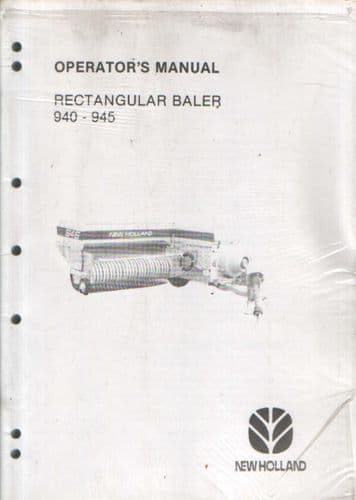 New Holland Baler 940 945 Operators Manual