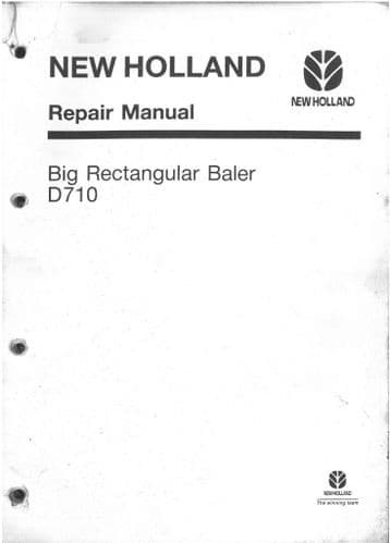 New Holland Baler D710 Workshop Service RepairManual