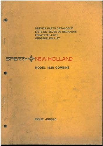 New Holland Combine 1520 Parts Manual