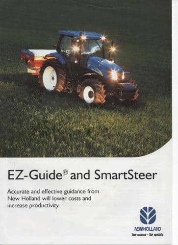 New Holland EZ-Guide and SmartSteer System plus Lightbar Brochure