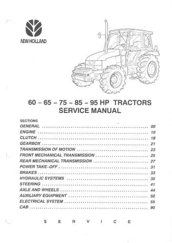 New Holland Fiatagri Tractor L60 L65 L75 L85 L95 Workshop Service Manual