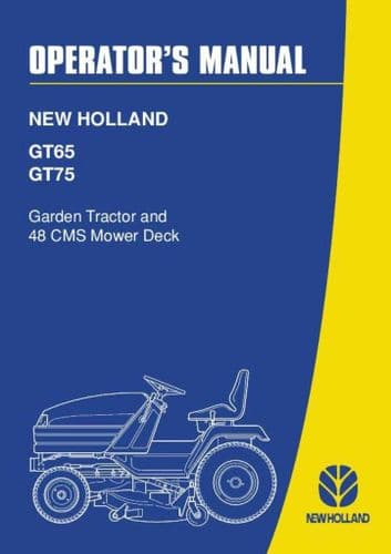 New Holland Garden and Lawn Tractor GT65 GT75 Operators Manual