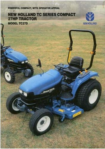 New Holland Groundcare Tractor TC27D Brochure