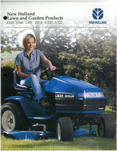 New Holland Lawn & Garden Products GT18 GT20 GT22 LS35 LS45 LS55  Brochure