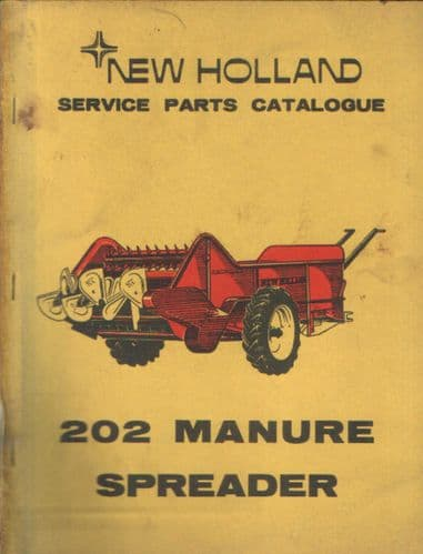 New Holland Manure Spreader Model 202 Parts Manual