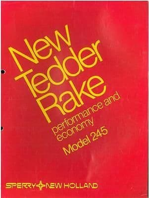 New Holland Model 245 Tedder Rake Brochure -