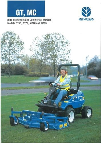 New Holland Mowers GT65 GT75 MC28 MC35 Brochure