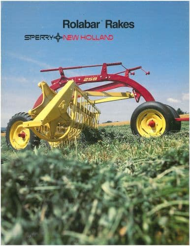 New Holland Rolabar Rake 256 258 260 57 Brochure