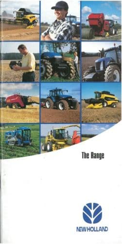 New Holland - The Range - Tractor Combine Baler Forager + More Brochure - PY1