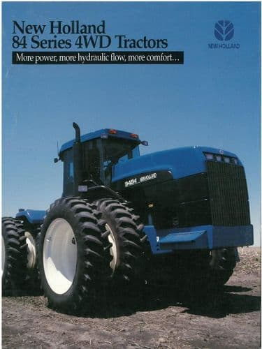 New Holland Tractor 84 Series Brochure - 9184 9384 9484 9684 9884