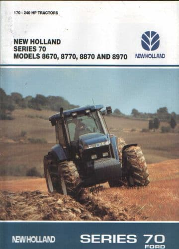 New Holland Tractor Series 70 8670 8770 8870 & 8970 Brochure