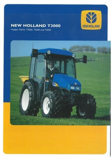 New Holland Tractor T3000 Series - T3010 T3020 T3030 T3040 Brochure