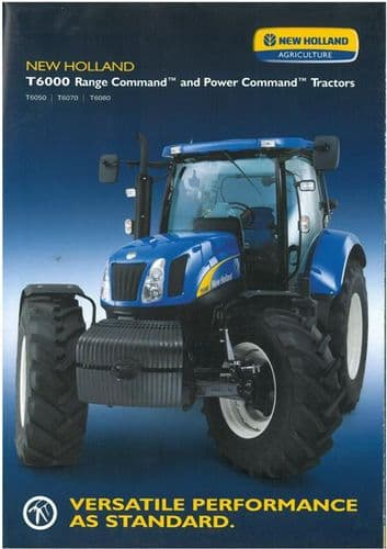 New Holland Tractor T6050 T6070 T6080 Brochure