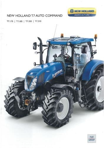 New Holland Tractor T7 Auto Command - T1.170 T7.185 T7.200 T7.210 Brochure