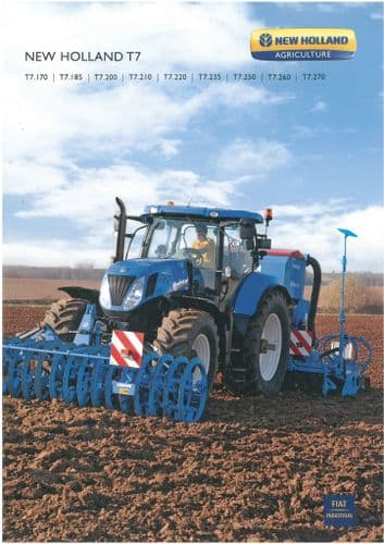 New Holland Tractor  T7 - T7.170 T7.185 T7.200 T7.210 T7.220 T7.235 T7.250 T7.260 T7.270