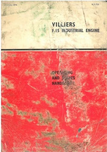 Norton Villiers F.15 Industrial Engine Operators Manual with Parts List - F.15