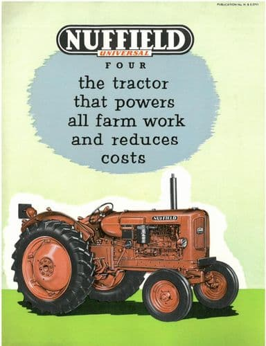 Nuffield Tractor Universal Four Brochure