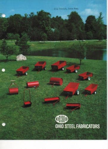 Ohio Steel Fabricators - Lawn & Garden Trailer Carts, Aerators, Lawn Rollers & Spreaders Brochure