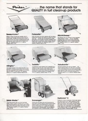 Parker range of Sweeps and Vac-Sweeps Brochure