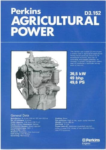 Perkins Engine D3.152 Agricultural Power Brochure