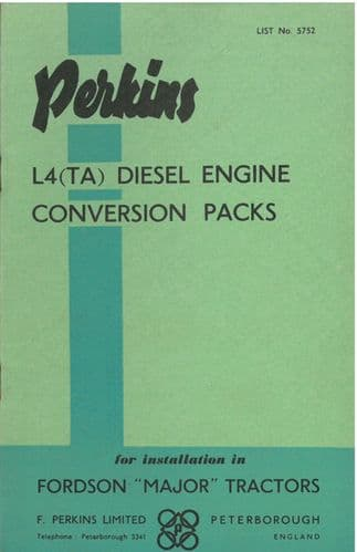 Perkins L4 (TA) Diesel Engine Conversion Packs for Installation in Fordson Major Tractors