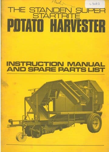 Peter Standen Super Startrite Potato Harvester - Operators Manual with Parts List - ORIGINAL