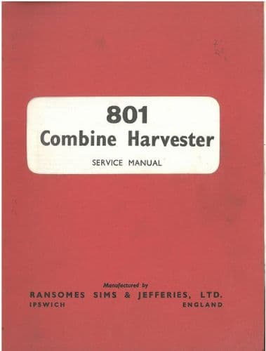 Ransomes Combine 801 Service Manual
