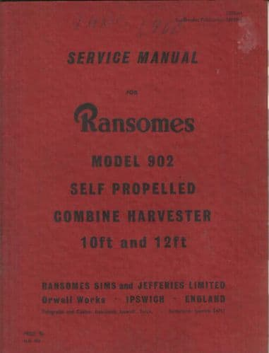 Ransomes Combine 902 Service Manual