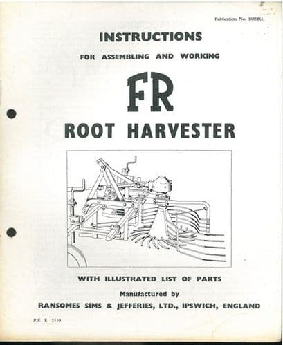 Ransomes FR Root Harvester Operators Manual