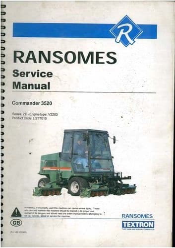 Ransomes Grass Cutting Machine Commander 3520 Service Manual