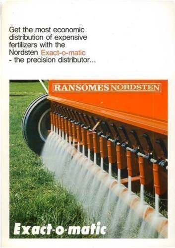 RANSOMES NORDSTEN EXACT-O-MATIC DRILL BROCHURE