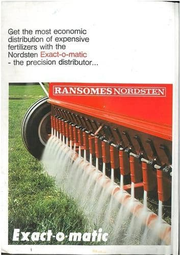RANSOMES NORDSTEN EXACT-O-MATIC SEED DRILL BROCHURE - 1RS