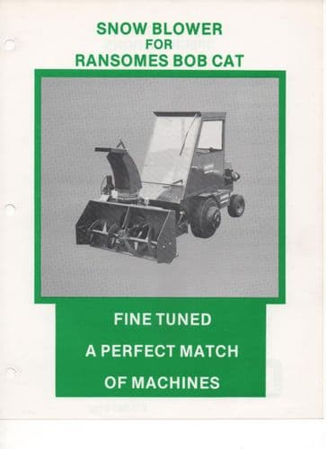 Ransomes Snow Blower for Bob Cat Brochure
