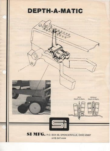 SI MFG Depth-A-Matic for John Deere Max-Emerge or Kinze planting units Brochure