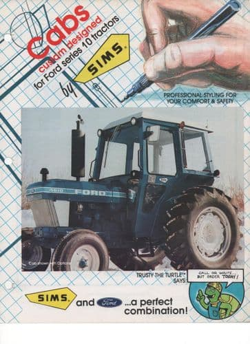 Sims Cabs custom designed for Ford series 10 Tractors Brochure