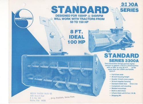 Snowmachines - Giant Dual Purpose Series 5600A Brochure