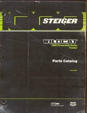 Steiger Wildcat 1000 Series Powershift Tractor Parts Manual