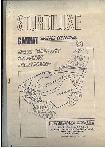 Sturdiluxe Gannet Sweeper Collector Operators Manual with Parts List