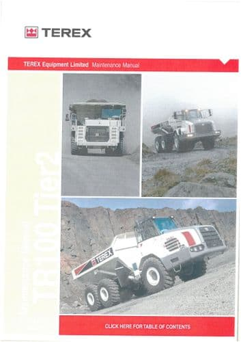 Terex Mining Truck TR100 Tier 2 Workshop Manual TR 100