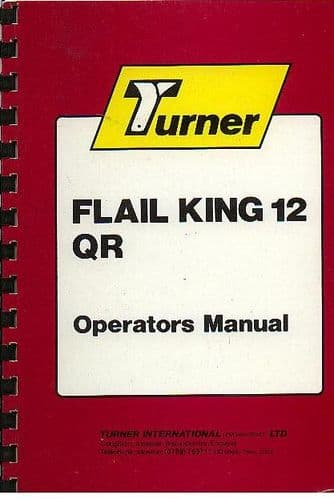 Turner Hedgetrimmer Flail King 12 QR Operators Manual with Parts List