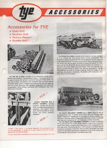 Tye Drill Accessories Brochure