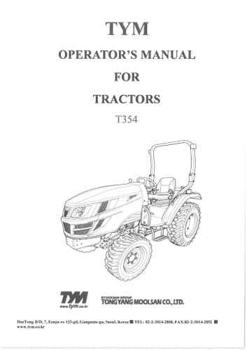 TYM Tractor T354 Operators Manual